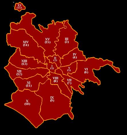 Mappa dei Municipi